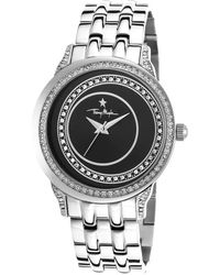Thierry Mugler Women'S Silver-Tone Steel Black Dial - Lyst