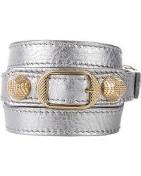 Balenciaga Arena Giant Double Tour Wrap Bracelet - Lyst