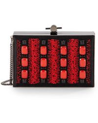 Jason Wu Karlie Embellished Box Clutch - Lyst