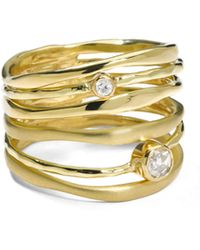 Ippolita - 18k Gold Stardust Movie Star Sixband Ring with Diamonds - Lyst