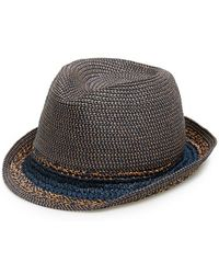 Hinge   Mixed Weave Trilby Hat   Lyst