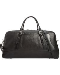 Cole Haan Pebbled Leather Duffle Bag - Lyst