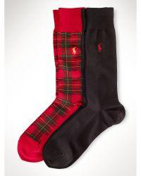 Polo Ralph Lauren Classic Plaid Sock 2 Pack - Lyst