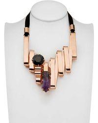 Mawi Amethyst Shard Crystal Necklace - Lyst