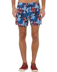Roda - Hibiscus-print Swim Shorts - Lyst