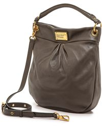 Marc By Marc Jacobs Classic Q Hillier Hobo - Faded Aluminum - Lyst