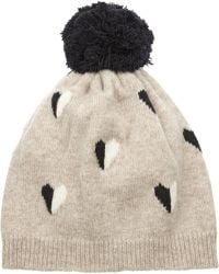 Chinti & Parker - Queen Of Hearts Intarsia Wool Beanie - Lyst