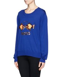 Markus Lupfer Pisces Sequin Sweater - Lyst