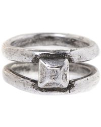 Jill Golden Double Band Pyramid Ring - Lyst