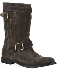 Burberry Suede Grantville Boots - Lyst