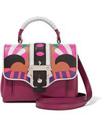 Paula Cademartori - Dun Dun Mini Appliquéd Leather Shoulder Bag - Lyst