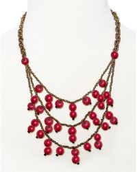 Greenola Style - Red Tiered Acai Necklace - Lyst