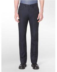 CALVIN KLEIN 205W39NYC - White Label Slim Fit Herringbone 5-Pocket Pants - Lyst