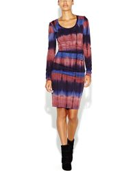 Nicole Miller Kimberly Tie Dye Ruched Dress - Lyst