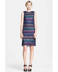 Missoni Zigzag Layered Knit Dress - Lyst