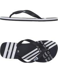 Y-3 Black Thong Sandal - Lyst