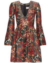 Saint Laurent Printed Mini Dress - Lyst