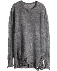 H&M Gray Knitted Jumper - Lyst