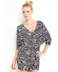 Trina Turk Zebra Print Cover-Up - Lyst