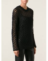 Junya Watanabe Fishnet Knit Sweater - Lyst