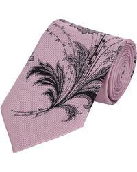 Alexander McQueen Floral Neck Tie - Lyst