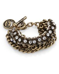 Giles & Brother Crystal Cup Chain Braceletgoldtone - Lyst
