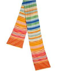 Missoni Striped Scarf pink - Lyst
