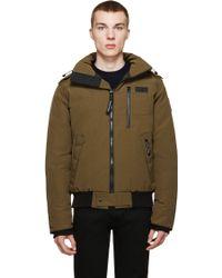 new canada goose down men's borden bomber jacket tan