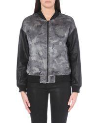 5cm - I.T Camo Skull Satin Jacket - For Women - Lyst