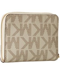 Michael by Michael Kors Mk Sig Saffiano Medium Zip Around - Lyst