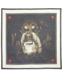 Givenchy | Rottweiler-print Silk & Cotton Shawl | Lyst