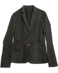 Jil Sander Navy Cotton Mixed Jacket - Lyst