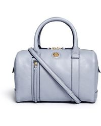 Tory Burch 'Brodie' Small Leather Satchel blue - Lyst