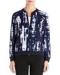 Jones New York Tie-Dye Print Bomber Jacket blue - Lyst