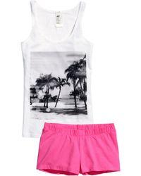 H&M Jersey Pyjamas pink - Lyst