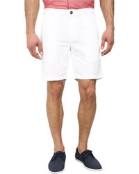 AG Adriano Goldschmied Wanderer Cotton-Linen Blend Shorts In White - Lyst