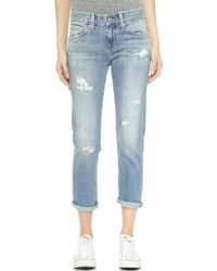 Ag Adriano Goldschmied The Slim Ex Boyfriend Jeans  - Lyst