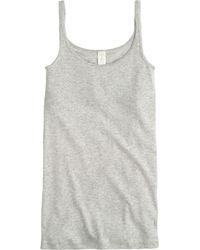 J.Crew Perfect-Fit Tank Top With Built-In Bra - Lyst
