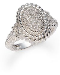 Judith Ripka Pavã White Sapphire Sterling Silver Ring - Lyst