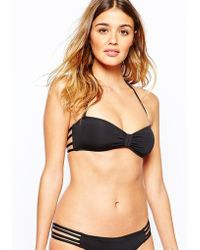 Undiz - Mundakiz Bandeau Bikini Top - Black - Lyst