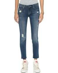 Mother The Looker Ankle Fray Jeans - Alley Cat - Lyst