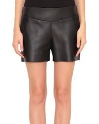 Costume National Leather Shorts - Lyst