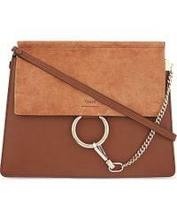 chloe faye medium leather satchel