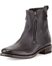 John Varvatos Parisian Double-zip Leather Boot - Lyst