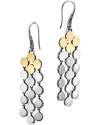 John Hardy Dot Silver 18k Gold Chandelier Earrings - Lyst