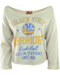 Sportiqe - Long Sleeve Golden State Warriors Crop Top - Lyst
