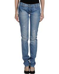 Dondup Blue Denim Pants - Lyst