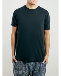 Topman Washed Black Roller Fit Tshirt - Lyst
