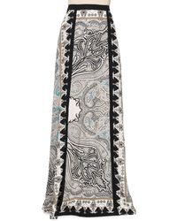Etro Printed Doublevent Maxi Skirt - Lyst