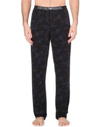 Emporio Armani Camouflage-Print Trousers - For Men - Lyst